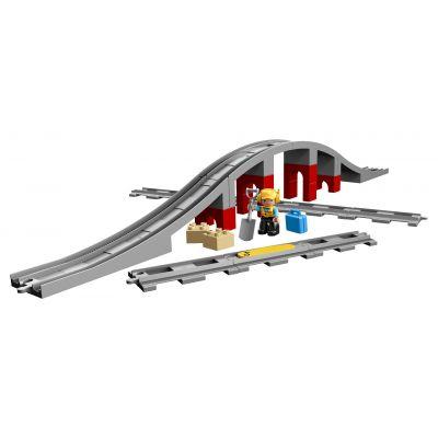 Ponte e binari ferroviari 10872 di Lego