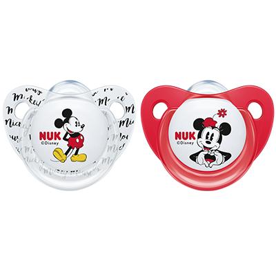 Nuk Succhietto Trendline Mickey Mouse 2 Pezzi 0 - 6 mesi in Silicone di Nuk