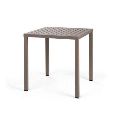 Tavolo Cube 80 Tortora di Nardi