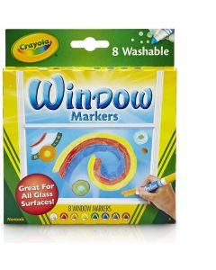 Confezione 6 Pennarelli per Vetro di Crayola