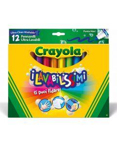 I Lavabilissimi 12 Pennarelli Ultra-Lavabili, Punta Maxi, di Crayola