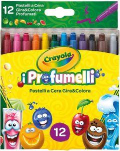 I Profumelli 12 Pastelli a Cera Profumati Gira e Colora di Crayola