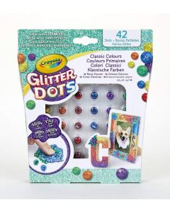 Glitter Dots Assortiti, Set Glitter Modellabile di Crayola