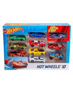 Hot Wheels Set 10 Veicoli in Scala 1:64, Decorazioni Mozzafiato, di Mattel