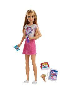 Barbie Bambola Skipper Bionda Babysitter con Cellulare, FXG91 di Mattel
