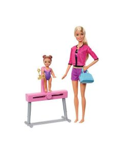 Barbie Gymnastics Coach Dolls & Playset di Mattel