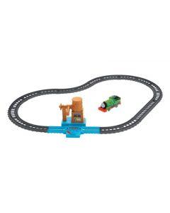 Playset Thomas & Friends Il Trenino Thomas con Trenino Percy Motorizzato e Pista di Hasbro