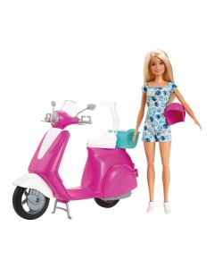 Playset Barbie con Scooter di Mattel
