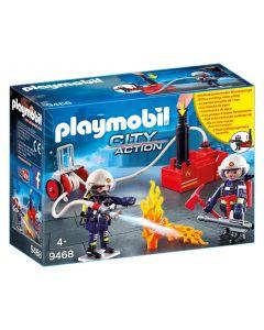 Squadra dei Vigili del Fuoco con pompa d'acqua 9468 di Playmobil