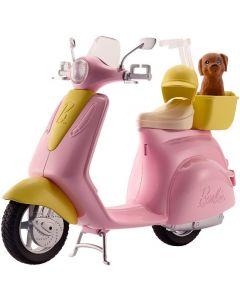 Barbie Scooter & Cagnolino con Cucciolo e Casco Inclusi di Mattel