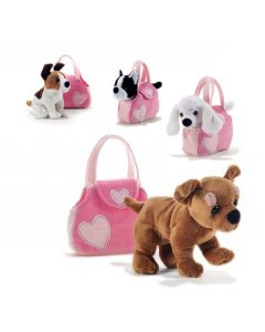 Lovely Pet Bag Cagnolini Assortiti 22 Cm. di Plush