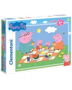 Puzzle Peppa Pig 24 pezzi Maxi di Clementoni
