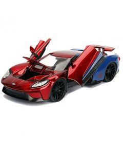 Spiderman Ford GT  in Scala 1:24 con Personaggio di Spiderman di Simba