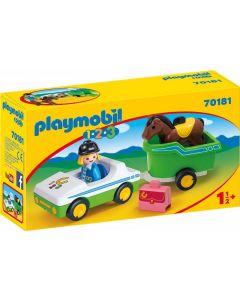 Playmobil 1.2.3. - 70181 - Auto con Trasporto Cavalli
