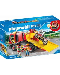 Playmobil City Life 70199 - Carro Attrezzi con Moto