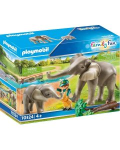 Guardiano dello zoo con elefanti Family Fun 70324 di Playmobil