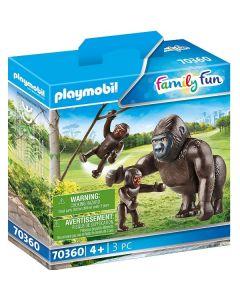 Famiglia di Gorilla Family Fun 70360 di Playmobile
