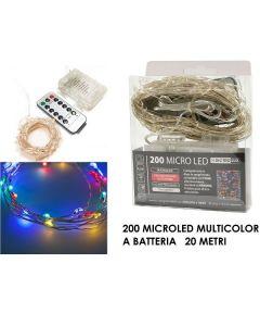 Catena 200 Microled a Batterie Luce Multi Color con Telecomando