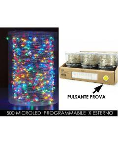 Catena 500 Microled con Alimentatorex Esterno Luce MultiColor Programmabile