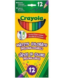 Matite Colorate Personalizzabili, 12 Colori di Crayola