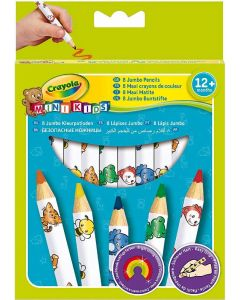 Mini Kids - Matitoni decorati,  8 Pezzi di Crayola
