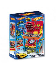 Garage Banco Attrezzi con Accessori di Hot Wheels