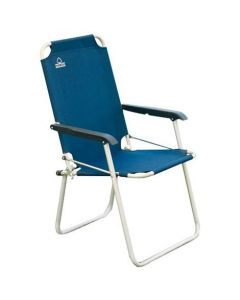 Sedia Relax pieghevole in alluminio Blu di Greeenwood
