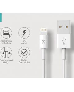 Cavo Serie Smart Lightning Apple Lunghezza 2 Metri Bianco