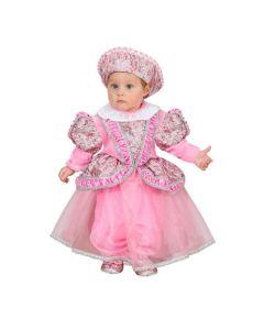 Set Principessina Neonato Arcobaleno Carnevale-Halloween Taglia 3/6 mesi di Roccobimbo