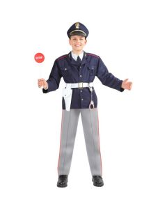 Set Police Bambino Carnevale-Halloween Taglia M 6/7 anni di Roccobimbo
