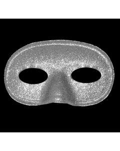 Maschera Carnevale-Halloween Lurex Argento Taglia Unica di Roccobimbo