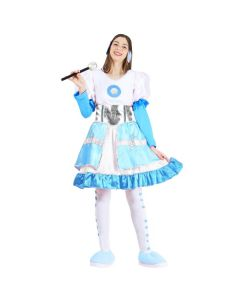 Set Ledy Music Turchese Bambina Carnevale-Halloween Taglia S 5/6 anni di Roccobimbo