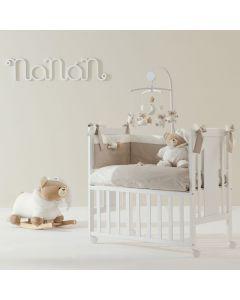 Lettino Co Sleeping Mini Me Bianco con Materasso di Nanan