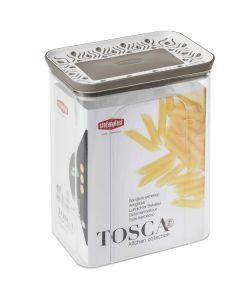 Barattolo Rettangolare ermetico resina Tosca 10x15.5x19.5 cm di StefanPlast