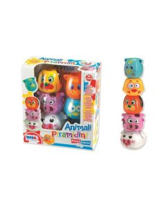 Primi Giochi Baby Animali Piramidoni Impilabili di Rstoys