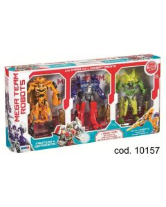 Set Mega Team Robots 3 Pezzi di Rstoys