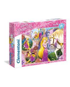 Princess Tangled Supercolor Puzzle, 24 Pezzi di Clementoni