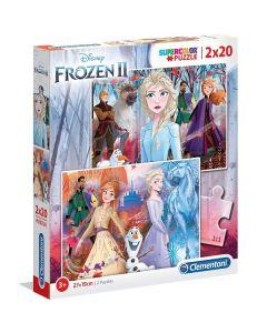 Puzzle Frozen 2 Supercolor 2x20 Pezzi 24759 di Clementoni