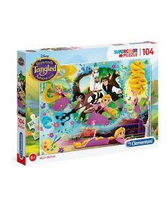 Rapunzel Supercolor Puzzle, 104 Pezzi di Clementoni