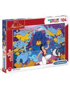 Puzzle 104 Pezzi Aladdin Supercolor 27283 di Clementoni