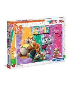 Supercolor Puzzle-44 Gatti-104 Pezzi 27288 di Clementoni