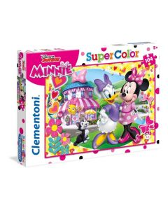 Minnie Happy Helpers Supercolor Puzzle Maxi, 104 Pezzi, di Clementoni