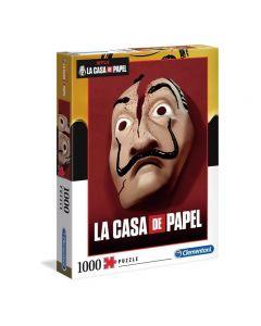 Impossible Puzzle - La Casa de Papel Maschera- 1000 Pezzi di Clementoni