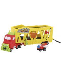 Trash Pack Wheels, Camion giocattolo Bisarca Muck Mover di Giochi Preziosi