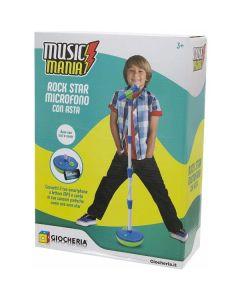 Music Mania - Boy Asta con Microfono Azzurra di Giocheria