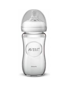 Biberon Natural Anti-Colica in Vetro, 240 ml, di Philips Avent