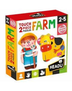 Headu Touch 2 pieces Puzzles Farm di Headu